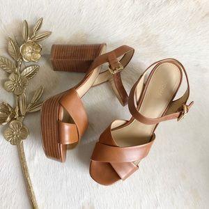 31afe091d74 Michael Kors Shoes - MICHAEL MICHAEL KORS Sia Leather Platform Sandal